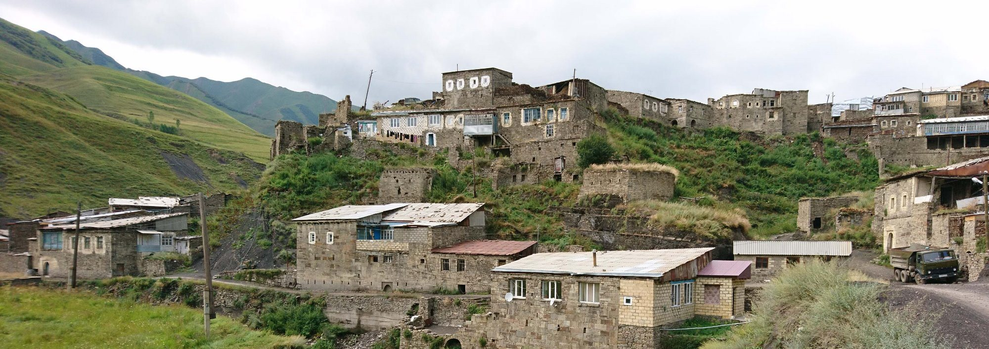 An old part of the Burkikhan village, Agul-speaking area, Daghestan