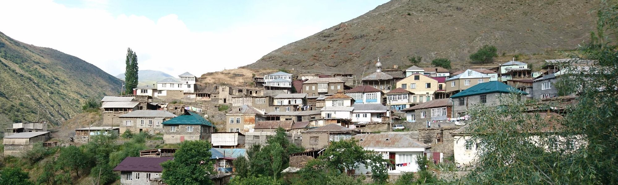 A look at the central part of the Kina village, Rutul-speaking area, Daghestan